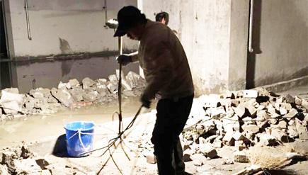 山东伟浩建设集团有限公司地下室堵漏工程