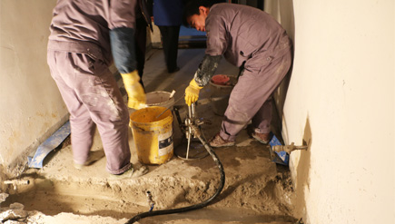 天津二十冶建设公司地下室堵漏工程