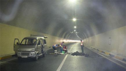 贵州省纳雍县杭瑞高速公路毕都七标鱼塘梁子隧道堵漏