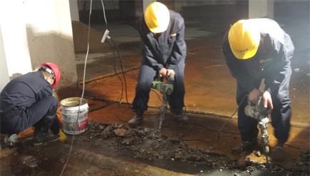 江苏南通二建集团有限公司地下室堵漏工程