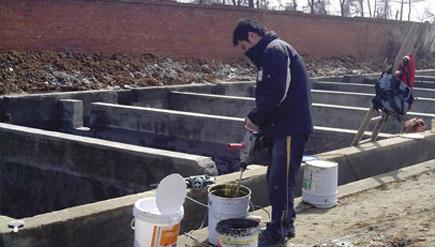 浙江杭州市桐庐县求是路污水处理厂水池堵漏工程