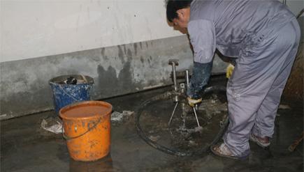 海安供电公司地下车库堵漏工程